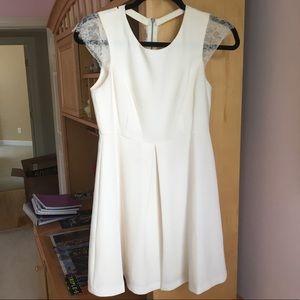 White BCBGeneration lace cap sleeve dress
